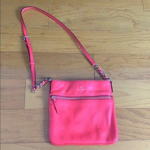 Kate Spade cobble leather coral bag